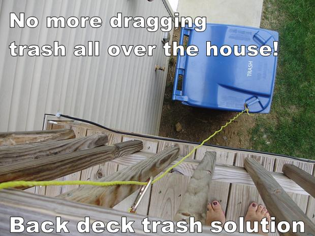 back deck trash solution